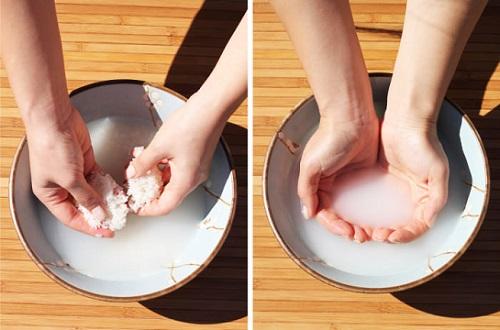 làm đẹp da với nước vo gạo